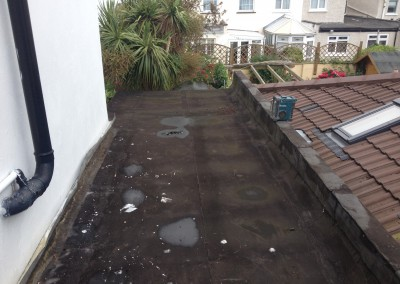Flat roof - Before
