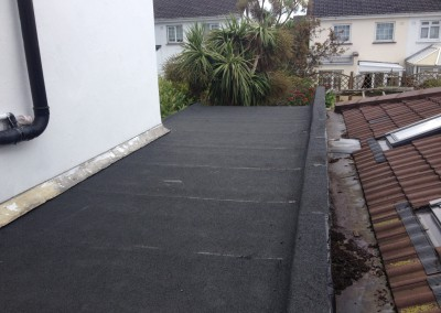 flat roof after repair