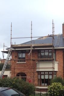 roofing repairs work in progress