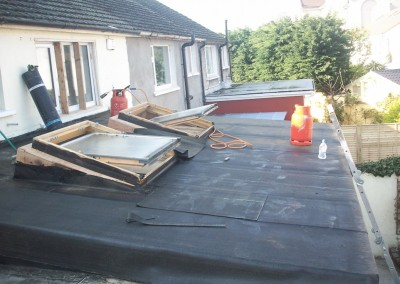 old flat roof